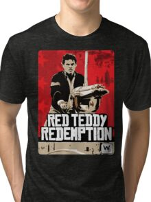 Red Teddy Redemption Mashup Tri-blend T-Shirt