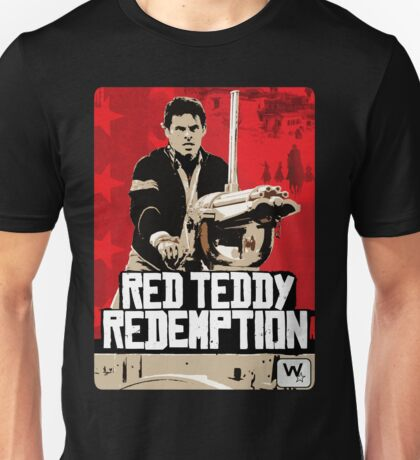 Red Teddy Redemption Mashup Unisex T-Shirt