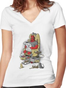 Hellboy relax Women's Fitted V-Neck T-Shirt