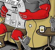 Hellboy relax Sticker