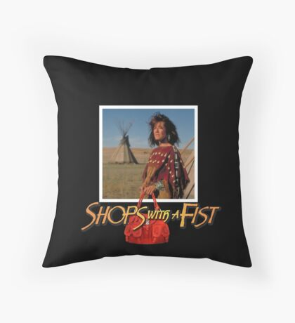 Shops with a Fist Throw Pillow