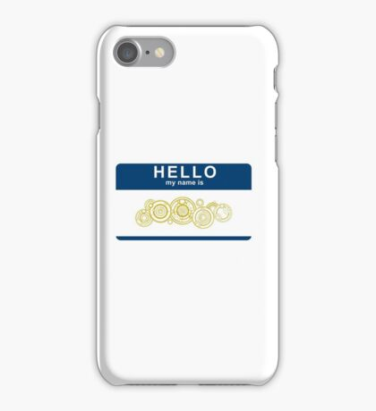 Hello, My Name Is The Doctor iPhone Case/Skin