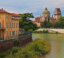 Italy. Verona. River Adige. by vadim19