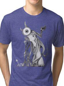 September black and white Tri-blend T-Shirt