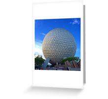 Epcot Center Spaceship Earth Greeting Card