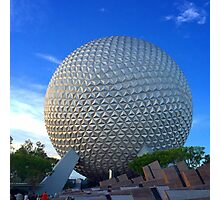 Epcot Center Spaceship Earth Photographic Print