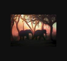 Elephant Sunset Unisex T-Shirt