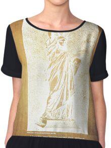 Statue If Liberty Original Patent By Bartholdi 1879 Chiffon Top