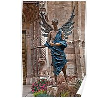 Italy. Verona. Angel sculpture in front of the Cathedral. Poster
