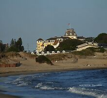 ocean house from the napatree point of view by Maureen Zaharie