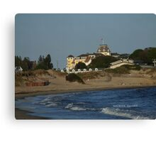 ocean house from the napatree point of view Canvas Print