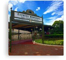 Walt Disney World Express Monorail Station  Canvas Print