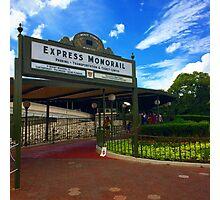 Walt Disney World Express Monorail Station  Photographic Print
