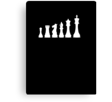Minimal Chess Pieces Canvas Print