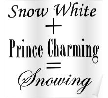 Snowing Equation Poster