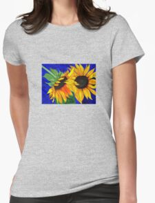 Sunflower Sister 2nd part Womens Fitted T-Shirt