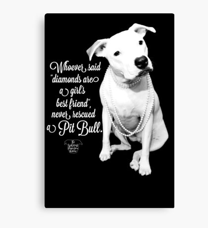 Girls Best Friend Rescued Pit Bull Canvas Print