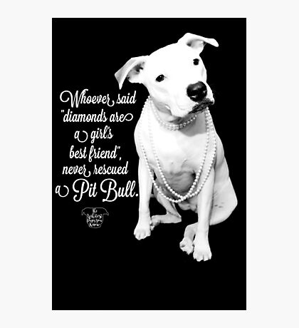 Girls Best Friend Rescued Pit Bull Photographic Print