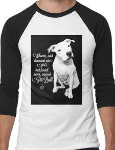 Girls Best Friend Rescued Pit Bull Men's Baseball ¾ T-Shirt