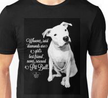 Girls Best Friend Rescued Pit Bull Unisex T-Shirt