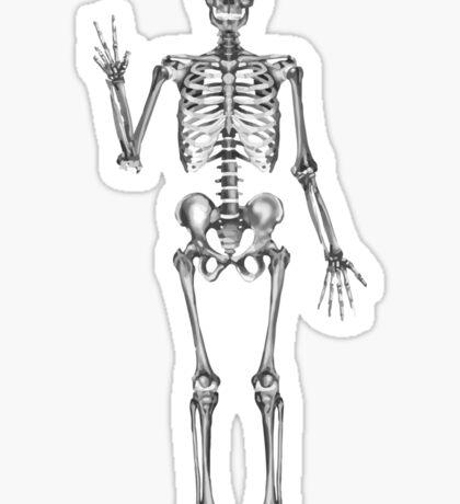 Skeleton Peace Sign Sticker