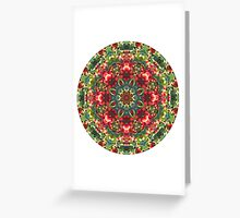 Holly Berries Mandala Greeting Card