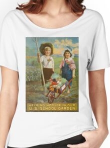 Helping Hoover in our U.S. school garden. Women's Relaxed Fit T-Shirt