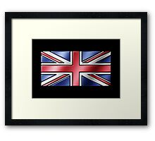 British Union Jack Flag 2 - UK - Metallic Framed Print