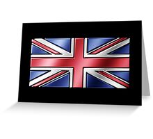 British Union Jack Flag 2 - UK - Metallic Greeting Card