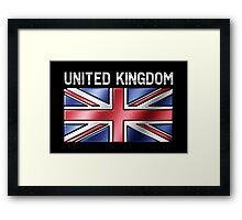 United Kingdom - British Flag & Text - Metallic Framed Print