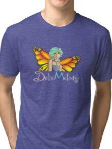 Delia Melody Faerie Design by Delena Hupp Tri-blend T-Shirt