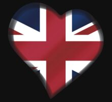 British Union Jack Flag - United Kingdom UK - Heart by graphix