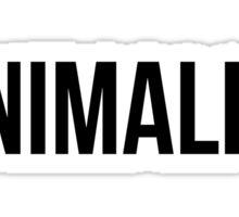 Minimalism (Black Text) Sticker