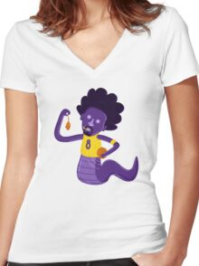 Afro Mamba Women's Fitted V-Neck T-Shirt