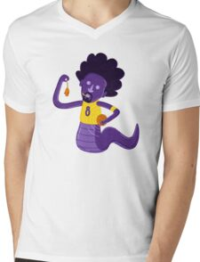 Afro Mamba Mens V-Neck T-Shirt