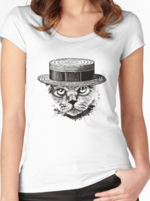 The Most Interesting Cat In The Hat Women's Fitted Scoop T-Shirt