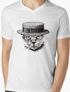 The Most Interesting Cat In The Hat Mens V-Neck T-Shirt