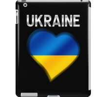Ukraine - Ukrainian Flag Heart & Text - Metallic iPad Case/Skin