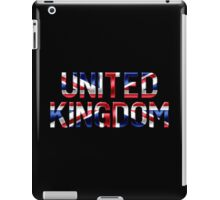 United Kingdom - British Flag - Metallic Text iPad Case/Skin
