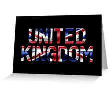 United Kingdom - British Flag - Metallic Text Greeting Card