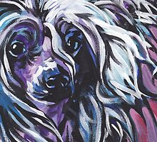 Chinese Crested Dog Bright colorful pop dog art by bentnotbroken11