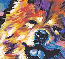 Chow chow Dog Bright colorful pop dog art by bentnotbroken11