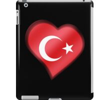 Turkish Flag - Turkey - Heart iPad Case/Skin