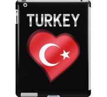 Turkey - Turkish Flag Heart & Text - Metallic iPad Case/Skin