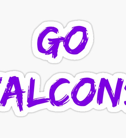Go Falcons Sticker