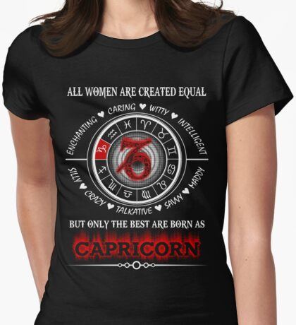 The best Capricorn Woman Womens Fitted T-Shirt