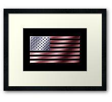 American Flag - USA - Metallic Framed Print