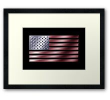 American Flag - USA - Metallic Framed Print