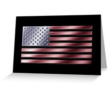 American Flag - USA - Metallic Greeting Card