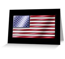 American Flag 2 - USA - Metallic Greeting Card